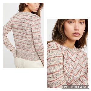 """Free People """"Zig Zag"""" Pullover Knit Sweater"""